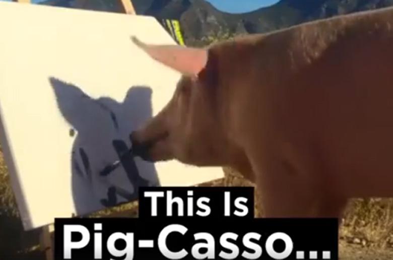 Το γουρούνι που ζωγραφίζει
