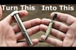 Ένα μπουλόνι μετατρέπεται σε μαχαίρι μινιατούρα