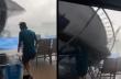 Άνδρας vs τραμπολίνο σε καταιγίδα