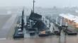 Ομπρέλες απογειώνονται από ισχυρή καταιγίδα